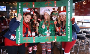SocialTechPop: $35 for Two Tickets to the Chicago Christmas Crawl in Old Town from SocialTechPop ($75.84 Value)