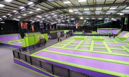 image for Trampoline Park Access: One or Two Hours for Up to Four at Jump Giants (Up to 45% Off)