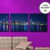 City Skyline at Night Triptychs