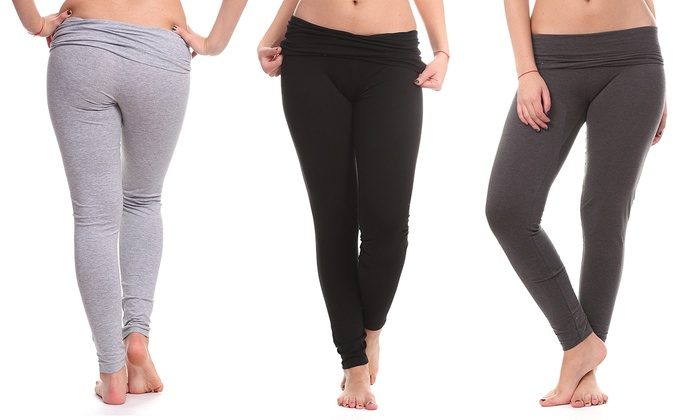 Cotton Yoga Pants (2-Pack) | Groupon Goods