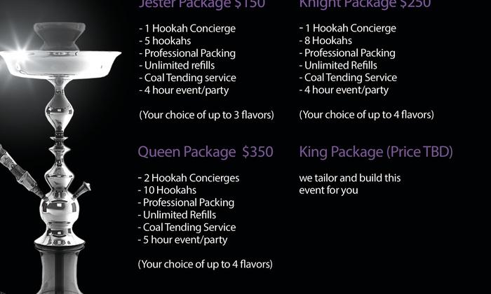 Shisha Kings Mobile Hookah Catering Services - Atlanta: $175 for $350 Worth of Catering Services — ShiSha Kings Mobile Hookah Catering Services