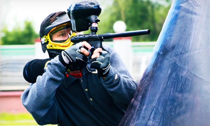 Warped Paintball Park - Warped Paintball Park: Paintball Outing for 2, 4, or 10 with Gear Rental and Paintballs at Warped Paintball Park (Up to 58% Off)