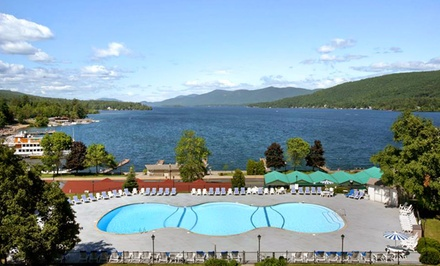 Stay at Fort William Henry Hotel in Lake George, NY. Dates Available into September.