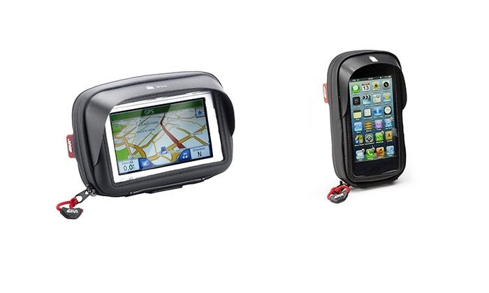 Groupon Goods Global GmbH: Porta smartphone e GPS Givi da manubrio. Varie dimensioni disponibili da 29 € a 34,90 €