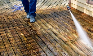 Lanaville Contracting: $695 for Deck Staining and Sealing for Up to 250 Square Feet from Lanaville Contracting ($1,200 Value)