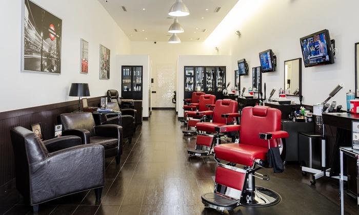 Prestigious Image Barbershop and Spa - Crafts: Men's Haircut, Shave, Mini-Facial, or Men's Mani-Pedi at Prestigious Image Barbershop and Spa (Up to 36% Off)