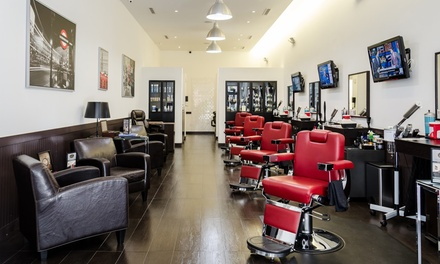 Men's Haircut, Shave, Mini-Facial, or Men's Mani-Pedi at Prestigious Image Barbershop and Spa (Up to 36% Off)