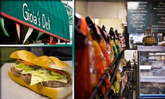 Gioia's Deli - The Hill: $5 for $15 Worth of Famous Sandwiches at Gioia's Deli