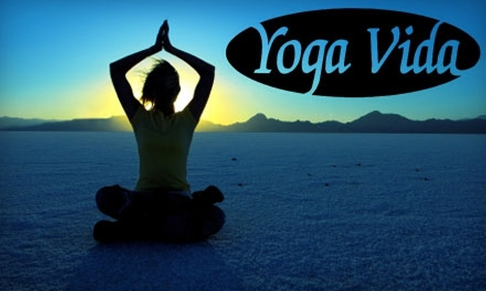 Yoga Vida - Multiple Locations: $10 for One Week of Unlimited Yoga Classes at Yoga Vida ($20 Value)