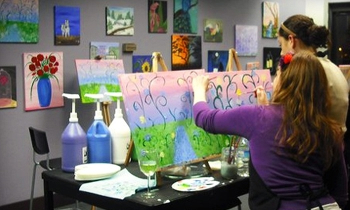Palettes and Pairings - Moss Bay: $20 for a Two-Hour Painting Class Plus a Drink and Appetizers at Palettes and Pairings in Kirkland ($40 Value)