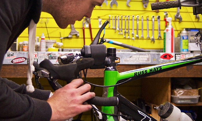 Russ Hay's The Bicycle Shop - Multiple Locations: Bike-Care Package with Tune-Up and Drivetrain Cleaning, or Regular Tune-Up at Russ Hay's The Bicycle Shop (Half Off)