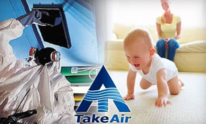 TakeAir - Multiple Locations: $59 for a Three-Room Carpet Cleaning and One HVAC Air Duct Cleaning from TakeAir ($218 Value)