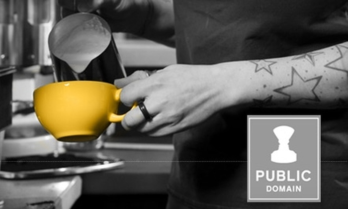 Public Domain Coffee - Downtown: $5 for $10 Worth of Coffee and More at Public Domain Coffee