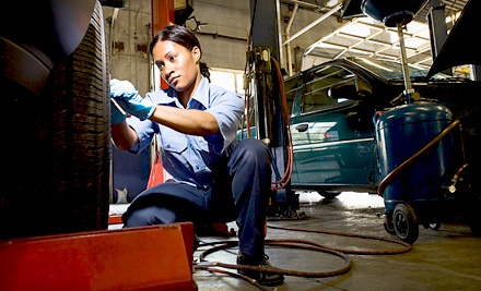 Full-Service Oil Change, 20-Point Inspection, Tire Rotation, and Brake Inspection (a $49 value) - Merlin 200,000 Miles Shop in Naperville