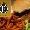 $10 for Fare at Emilio's Bistro in St. Petersburg
