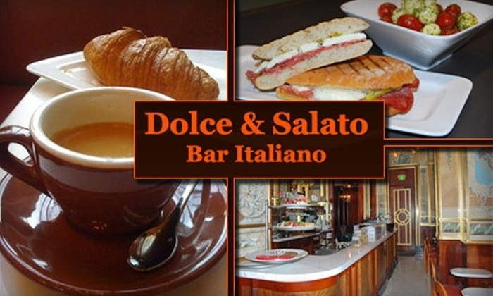 Dolce and Salato - Multiple Locations: $7 for $15 Worth of Coffee and Meals at Dolce and Salato