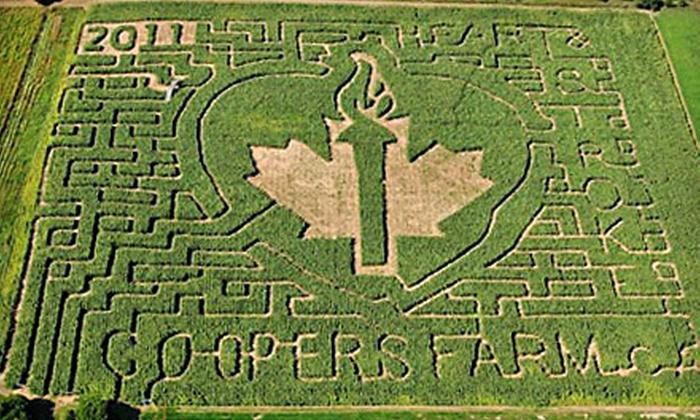 Cooper's CSA Farm & Maze - Zephyr: $8 for a Corn-Maze Outing for Two at Cooper's CSA Farm and Maze in Zephyr ($19 Value)