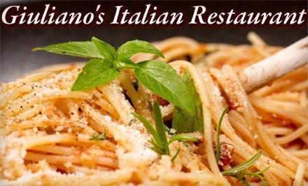 $20 Groupon to Giuliano's Italian Restaurant or Leonardo's Italian Cafe - Giuliano's Italian Restaurant or Leonardo's Italian Cafe in Jacksonville