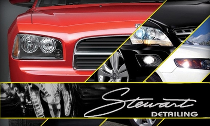 Stewart Detailing - Multiple Locations: Up to 83% Off Auto Services at Stewart Detailing. Choose from Four Options.