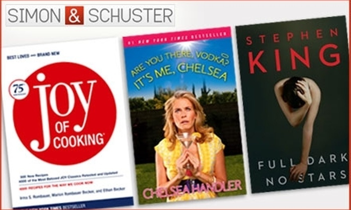 Simon & Schuster: $20 for $40 Worth of Books at Simon & Schuster's Online Store
