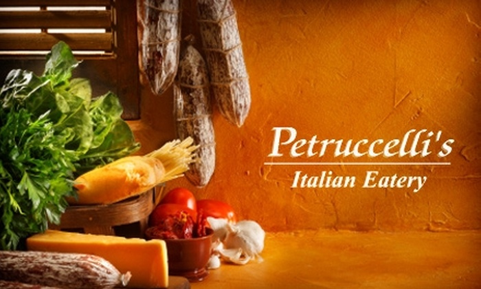 Petruccelli's Italian Eatery - Alabaster-Helena: $20 for $40 Worth of Authentic Italian Dinner Fare at Petruccelli's Italian Eatery