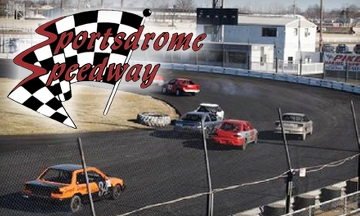 Sportsdrome Speedway - Clarksville: $10 for Two Adult Tickets to a Weekly Series Race at Sportsdrome Speedway in Jeffersonville ($20 Value). Two Dates Available.