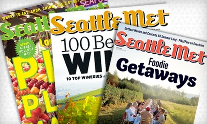 """""""Seattle Met"""" - Pike Place  Market: $8 for a One-Year Subscription ($16.95 Value) or $16 for a Two-year Subscription ($30 Value) to """"Seattle Met"""""""