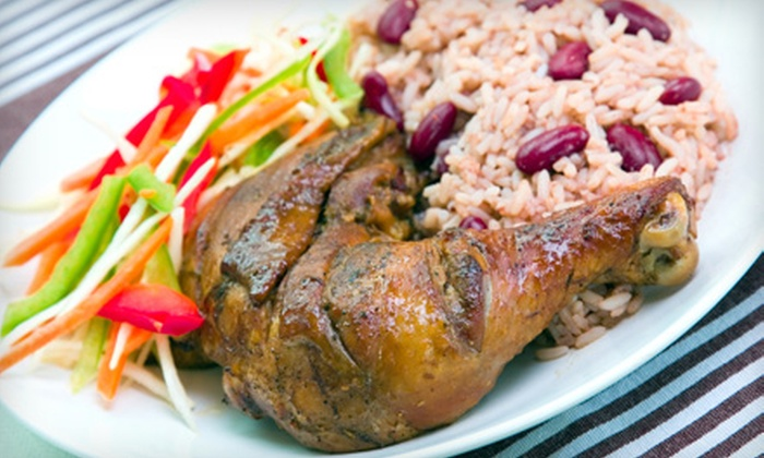 Mangoz Restaurant - State Hospital,Elmwood,Downtown: $8 for $16 Worth of Jamaican Dinner Fare and Drinks at Mangoz Restaurant