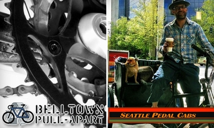 Belltown Pull-Apart - Belltown: $40 for a One-Hour Downtown Pedal-Cab Tour for Two or $32 for a Mid-Range Bicycle Tune-Up at Belltown Pull-Apart