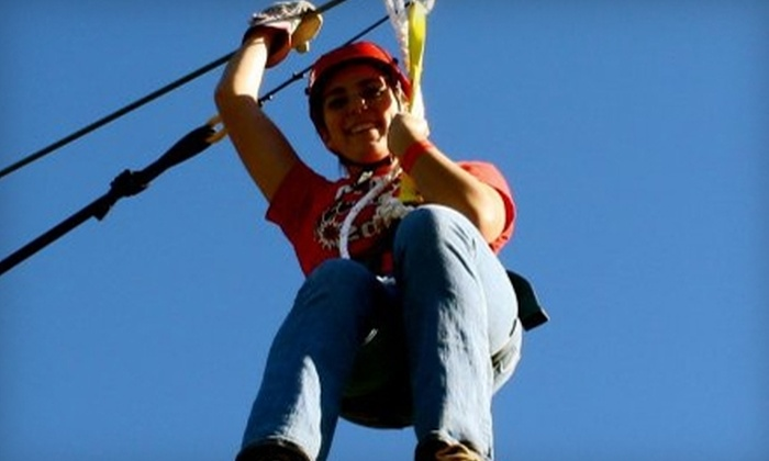 Fire Wire Zip Lines - Blue Ridge: $28 for Two Rides at Fire Wire Zip Lines in Blue Ridge ($59.90 Value)