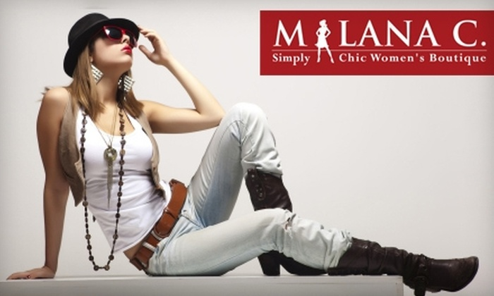 Milana C. - Downtown Menlo Park: $50 for $125 Worth of Boutique Apparel and Accessories at Milana C. in Menlo Park