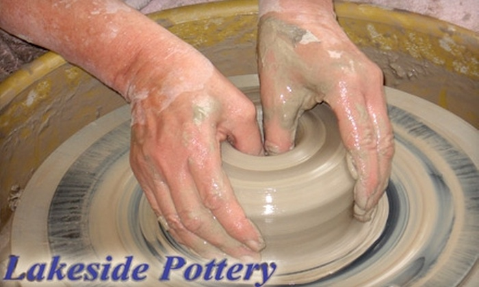 Lakeside Pottery - Springdale - Glenbrook - Belltown: $30 for a Handprint or Footprint Keepsake ($60 Value) or $48 for a 150-Minute Potter's Wheel Workshop ($96 Value) at Lakeside Pottery