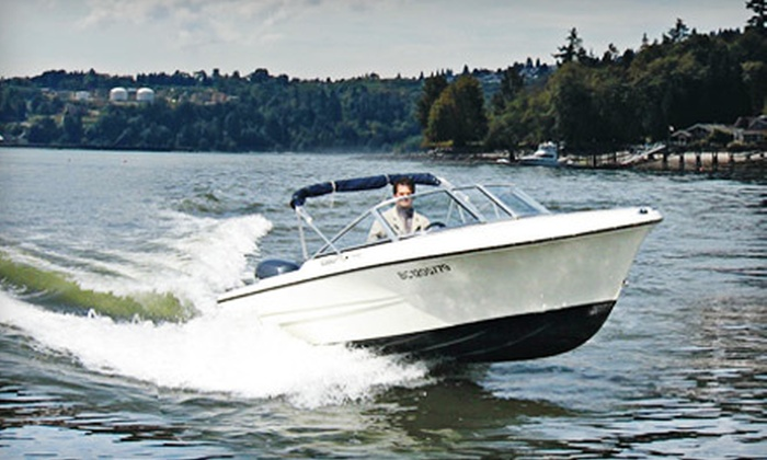 Granville Island Boat Rentals - Downtown: $29 for One Hour Toward 17' Hourston Glascraft Boat Rental from Granville Island Boat Rentals (Up to $65 Value)