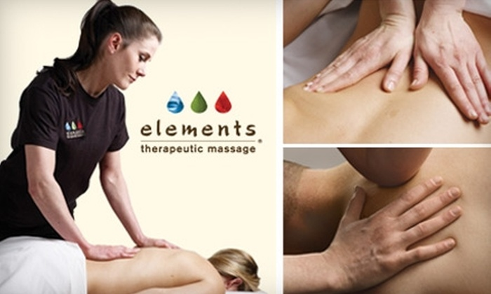 Elements Therapeutic Massage - Multiple Locations: $85 for a 55-Minute Couple's Massage from Elements Therapeutic Massage