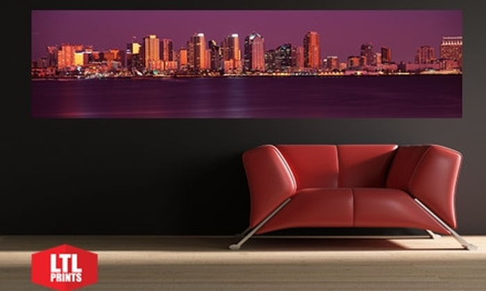 "Larger Than Life Prints: $35 for a ""Big Wall Graphic"" Panoramic Wall Mural from LTL Prints ($84 Value)"