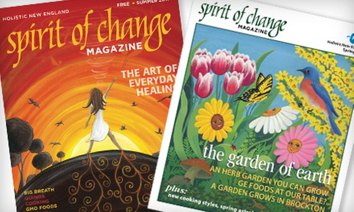 """""""Spirit of Change"""" - Portland, ME: $10 for a One-Year Subscription to """"Spirit of Change"""" Magazine ($20 Value)"""