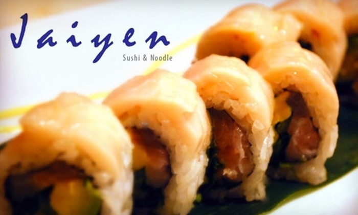Jaiyen - Lakeview: $20 for $40 Worth of Sushi and Asian Fare at Jaiyen
