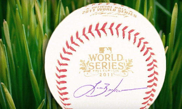Powers Collectibles: $149 for a 2011 World Series Baseball Autographed by Lance Berkman from Powers Collectibles ($308.95 Value)