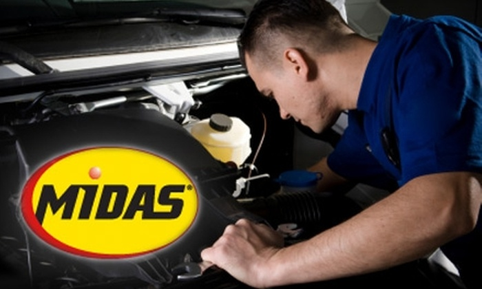 Midas - Multiple Locations: $17 for a Complete Oil Change ($34.95 Value) or $25 for Car Services and Parts ($50 Value) at Midas. Choose Between Two Locations.