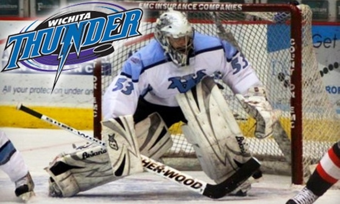 Wichita Thunder - Downtown Wichita: $10 for One Reserved Blue-Section Ticket to the Wichita Thunder Hockey Game (Up to $20 Value). Choose between Two Dates.