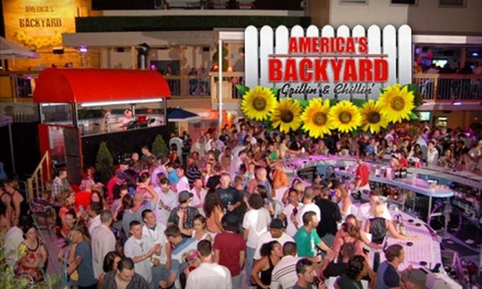 America's Backyard - Sailboat Bend: $25 for $50 Worth of Bar Fare and Drinks Plus One Waived Cover Charge at America's Backyard