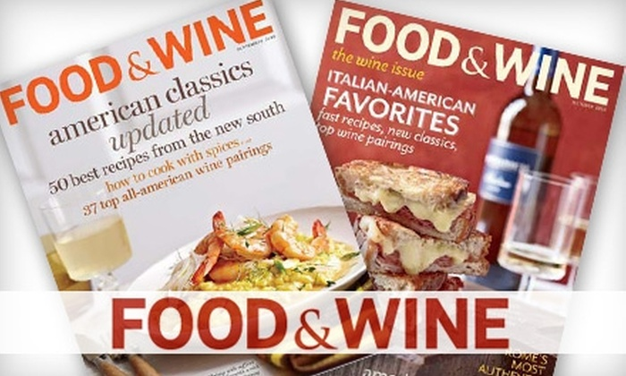 """Food & Wine"" Magazine: $12 for 15 Issues of ""Food & Wine"" Magazine ($24.99 Value)"