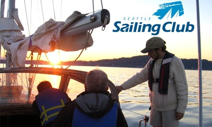 Seattle Sailing Club - Sunset Hill: $180 Introductory Keelboat Sailing Class from Seattle Sailing Club ($395 Value)