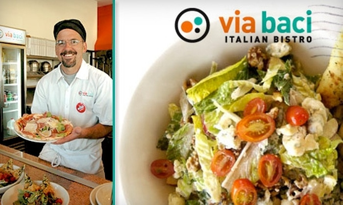 Via Baci Italian Bistro - Lone Tree: $12 for $25 Worth of Italian Fare at Via Baci Italian Bistro in Lone Tree