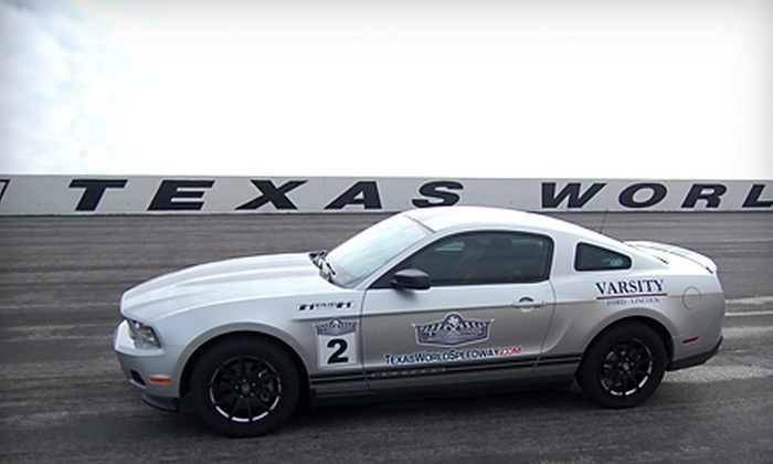 Texas World Speedway - College Station: $112 for a Ride-and-Drive Experience in a 2011 Ford Mustang at Texas World Speedway in College Station ($225 Value)
