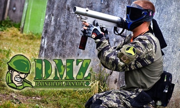 DMZ Paintball Canada - Thorold: $15 for Open Play, Equipment, and 200 Paintballs at DMZ Paintball Canada ($30 Value)