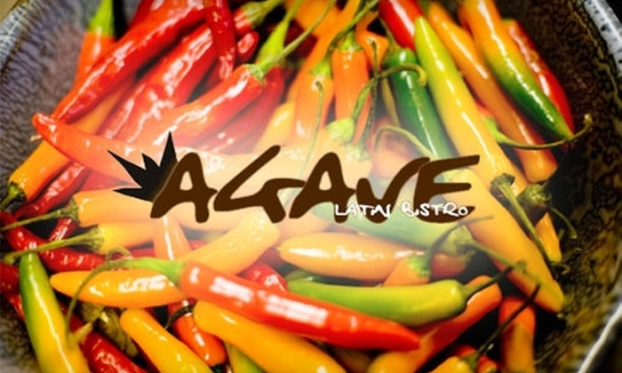 Agave Latin Bistro and Tequila Bar - Riverside: $12 for $25 Worth of Latin Fusion Fare, Tequila, and More at Agave Latin Bistro and Tequila Bar
