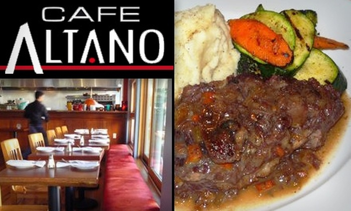 Cafe Altano - Hayes Valley: $10 for $25 of Authentic Italian Fare and Drinks at Cafe Altano