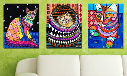 Heather Galler's Colorful Cats Giclee Prints