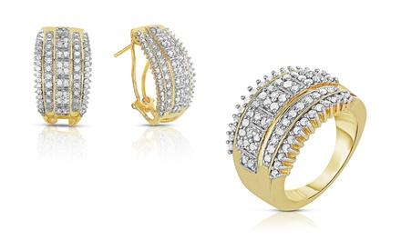 1.00 CTTW Diamond Ring or Hoop Earrings